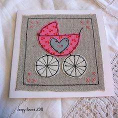 Baby Girl Congratulations card - Folksy