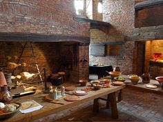 Medieval Kitchen in Gainsborough Old HalMedieval kitchen Gainsborough Old Hall has one of the best medieval kitchens in the country, seen here are one of the two vast fireplaces and the servery