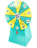 **ON SALE** Cardboard Prize Wheel with 10 Numbered Slots, Countertop - Teal & Yellow
