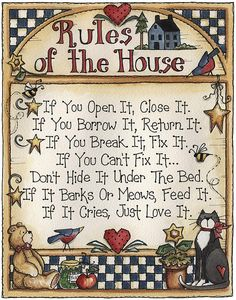 Rules of the house by Laurie Furnell