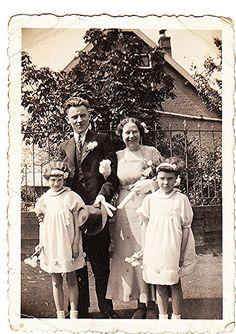 Trouwdag van Anna Dullaart en Hugo Nöller. mei 1937 | buren van familie Kool