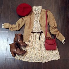 Fluffy Soft Knits Cardigan : The Art of Vintage-inspired & Cute Women's Clothing. - Fluffy Soft Knits Cardigan : The Art of Vintage-inspired & Cute Women's Clothing Mode Outfits, Office Outfits, Fall Outfits, Casual Outfits, Fashion Outfits, Fashion Trends, Mode Chic, Mode Style, Mode Ulzzang