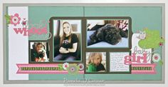 #Cricut Artbooking Layout using #CTMH Lollydoodle Collection by Pamela O'Connor