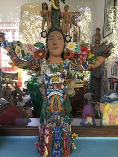 """""""The Tree of Life"""" ceramic figurine by the famous Josefina Aguilar. One of many just outside the library at our beautiful casa."""