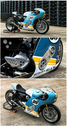 Who wouldn't want a Supercharged Triumph Thruxton built by Mellow hailing from Germany