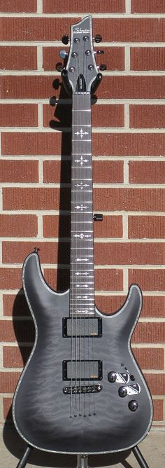 Schecter DIAMOND SERIES PROTOTYPE Hellraiser Extreme See Thru Black Satin 2012 6-String Electric Guitar