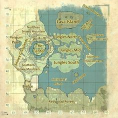 The Center map Ark Evolution, Ark Survival Evolved Tips, Final Fantasy, Ark Ps4, Game Ark, Fable 2, Doomsday Prepping, Island Map, Dragon Age Inquisition