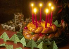 I found this recipe for Santa Lucia Crown, on Breadworld.com. You've got to check it out!