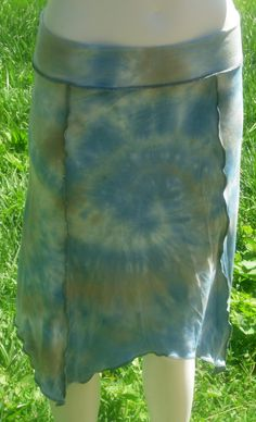 Simple Sprite Skirt  in Organic Bamboo Hand Dyed by KreativeMindz, $55.00