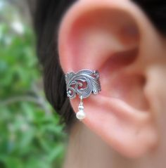Ear Cuff Sterling Silver Handcrafted  by Holylandstreasures, $17.95