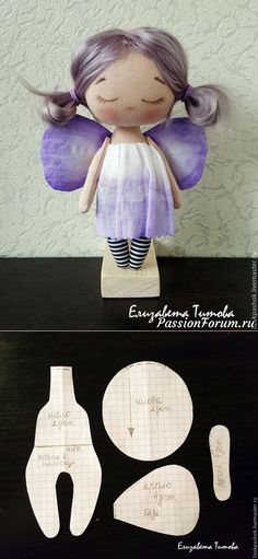 Cosemos la muñequita «la mariposa de espliego» de los pedazos de la tela