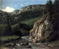 'Secuencia en las montañas del Jura' 1872-1873. Gustave Courbet