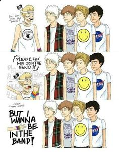 Niall and 5SOS hahah Nialler xD go on Wikipedia and search 5sos. Look at the band members ahahah