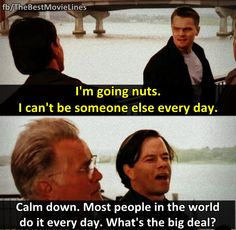 - Leonardo DiCaprio and Mark Wahlberg in The Departed (2006)  Dir. Martin Scorsese