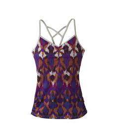 Global Yoga with eco-activewear. Leyla Top in Bougainvillea Ikat | #EcoFashion | @prAna