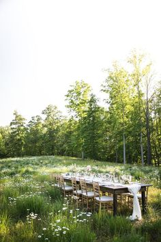Charming rustic tablescape outdoors.