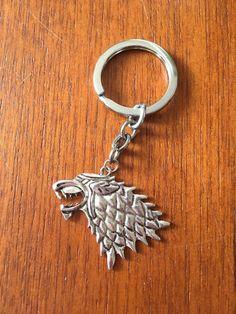 Game of Thrones Stark sigil keyring by GiftoftheGeek on Etsy