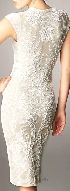 Alexander McQueen ● Ivory Cocktail Dress ~ Tнεα