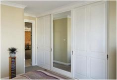 fitted classic wardrobe with sliding doors - Wardrobe closets