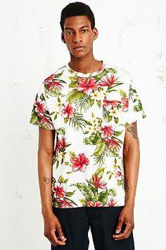 Worland Aloha Print Tee in Ecru - Urban Outfitters (£28.00) - Svpply