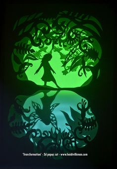 Transformation - Framed Paper Cut - Illuminated Paper Art - Limited Edition - Signed By Artist