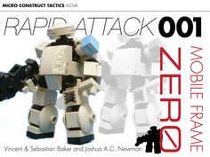 A tabletop game using lego to make minifig robots?? Yes please!!