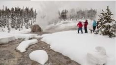 Yellowstone National Park - Jackson Hole Chamber Of Commerce Grand Teton National Park, Yellowstone National Park, National Parks, Visit Yellowstone, Yellowstone Camping, Snow Level, Old Faithful, Cross Country Skiing, Park Service