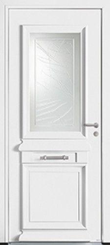 Mod le al ria porte d 39 entr e bois classique mi vitr e for Porte de service vitree pas cher