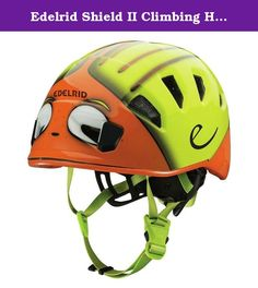 Edelrid Shield II Climbing Helmet - Kids' Sahara/Oasis, 48-56cm. Simultaneously turn your child's head into a beast and protect his head from falling rocks with the Edelrid Kids' Shield II Climbing Helmet. Its lightweight in-mold construction includes a tough shell and an expanded foam core for comfort and protective durability. The Wing-Fit system uses an adjustable dial at the back for a secure fit, and Edelrid added removable padding for a customized feel. The Shield II also features...
