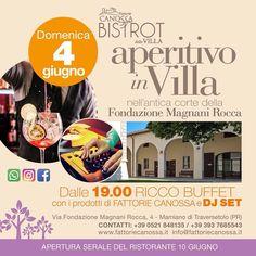 #aperitivoinvilla #fattoriecanossa #fattoriecanossabistrot #massodj #dimitrimazzoni #kickystaff inaugurazione domenica 4.6.2017