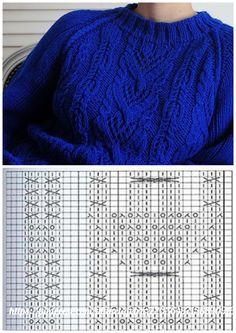 #узор@lknit Knitting Stiches, Cable Knitting, Free Knitting, Knitted Pouf, Knitted Shawls, Knit Crochet, Stitch Patterns, Knitting Patterns, Sewing Patterns