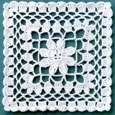 Risultati immagini per muestras o pastillas a crochet Granny Square Crochet Pattern, Crochet Blocks, Crochet Stitches Patterns, Crochet Chart, Crochet Squares, Thread Crochet, Love Crochet, Crochet Motif, Irish Crochet