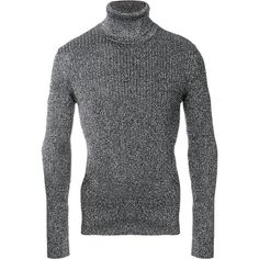 Saint Laurent lurex pull over jumper ($900) ❤ liked on Polyvore featuring men's fashion, men's clothing, men's sweaters, black, mens slim fit sweaters, mens ribbed sweater and mens roll neck sweater