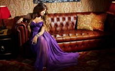 Demi Lovato from a photoshoot a few weeks ago! i love the purple dress shes wearing<3