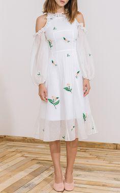 Safia Cold Shoulder Dress by ZAYAN THE LABEL Now Available on Moda Operandi