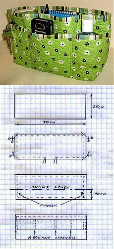 Easy to make DIY purse organizer!Easy to make DIY purse organizer! Purse Patterns, Sewing Patterns, Diy Sac, Bag Pattern Free, Diy Couture, Craft Bags, Purse Organization, Quilted Bag, Fabric Bags