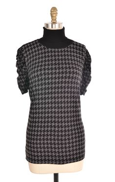 Style & Co. Black & Grey Hounds tooth Turtleneck Size L | ClosetDash  #style&co #black #grey #houndstooth #pattern #turtleneck #sweater #top #shirt #fashion #clothing #oneofakind #vintage #style