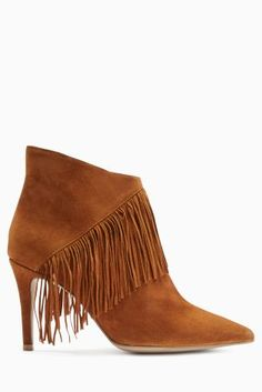 Buy Suede Fringe Point Ankle Boots from the Next UK online shop £68