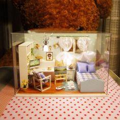 Cuteroom 1:32Dollhouse Miniature DIY Kit with Cover& Music LED Light Heart of Ocean Sale - Banggood Mobile
