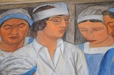 Diego Rivera [Mexican Social Realist Muralist, Oil paintings reproductions for sale. Coit Tower San Francisco, Diego Rivera, Oil Painting Reproductions, Good News, Oil Paintings, Murals, Artworks, Medicine, Health