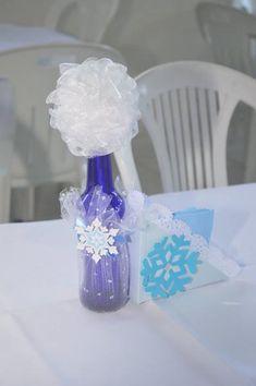 Festa Frozen Criativa - Centro de Mesa personalizado