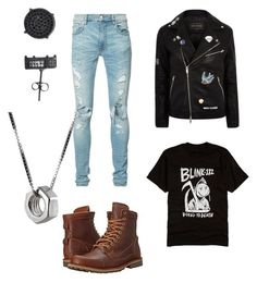 """Untitled #18"" by punkrockmidget on Polyvore featuring AMIRI, River Island, Timberland, Simply Silver and Edge Only"