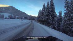 █ UHD/4K ☼ Switzerland 259 (Camera on board): Col des Mosses in Winter (...