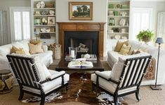 Neutral finishes and furnishings put the focus on accents gathered from the land. Here's how to display tokens from far-flung explorations for a cohesive and cozy den