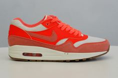 Nike Sportswear Air Max 1s in Sail/Bright Mango for the ladies ... Nike Air Max 1 madness is officially upon us. Remember ...