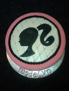 Barbie silhouette cake