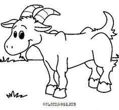 Coloriage Chèvre à colorier - Dessin à imprimer