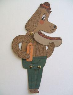 Chien Chaud Paper Puppet