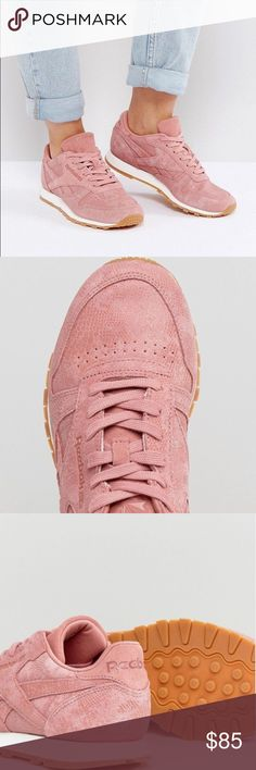 480c394b2753 NEW💖Reebok Classic Leather Sneaker Dusty Pink💖Exotic Faux leather Sneaker  from Reebok. True size to Size 8 New with tag. Super cute sneaker for  spring🌸 ...