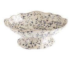 Alzata/centrotavola sagomata in porcellana con fiori - 32x12x20 cm